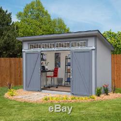Yardline Santa Clara 12' X 8' Wood Storage Shed withSliding Doors